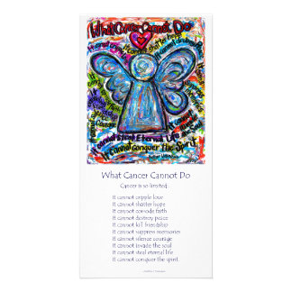 Colorful Cancer Angel Photo Card