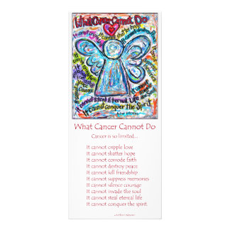 Colorful Cancer Angel Rack Card
