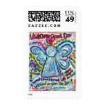 Colorful Cancer Angel Stamp