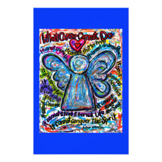 Colorful Cancer Angel Stationery