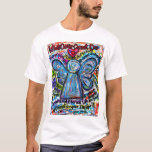 Colorful Cancer Angel T-shirt (Angel Front & Poem)