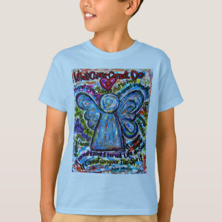 Colorful Cancer Angel T-shirt (Double Images)