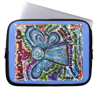 Colorful Cancer Cannot Angel Computer Sleeve Bag
