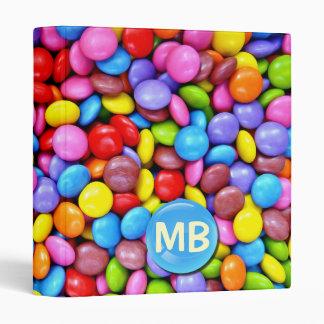 Colorful Candies 3 Ring Binder