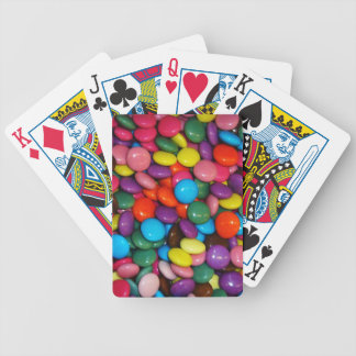 Colorful candies bicycle playing cards