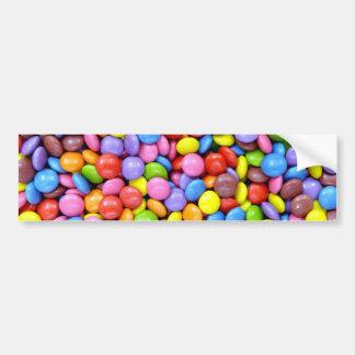 Colorful candies bumper sticker
