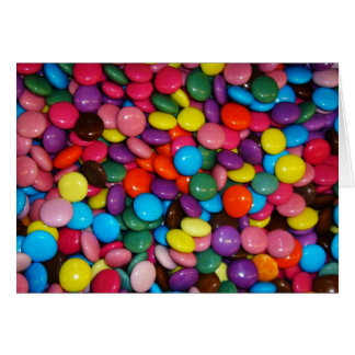 Colorful candies cards