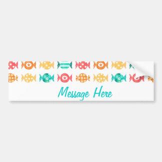 Colorful candies galore bumper sticker