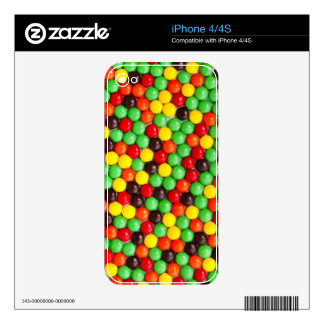 Colorful candies iPhone 4 decals