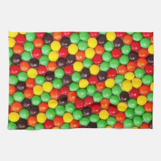 Colorful candies kitchen towel