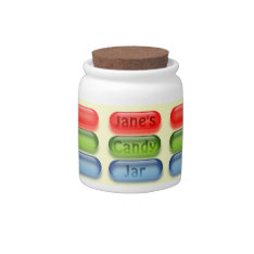 Colorful Candies On Your Personal Candy Jar at Zazzle