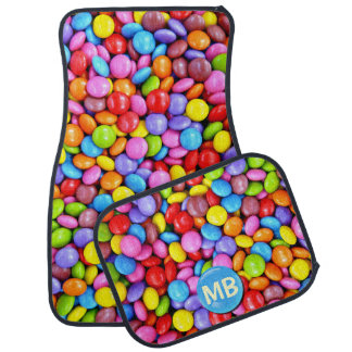 Colorful Candies Personalize Photo Car Floor Mat