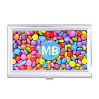 Colorful Candies Personalize Photo Case For Business Cards