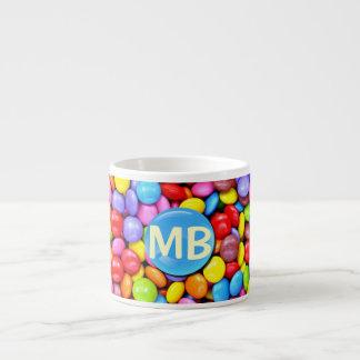 Colorful Candies Personalize Photo Espresso Cup