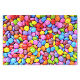 Colorful Candies Personalize Photo Tissue Paper