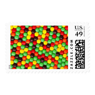 Colorful candies postage