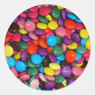 Colorful candies round sticker