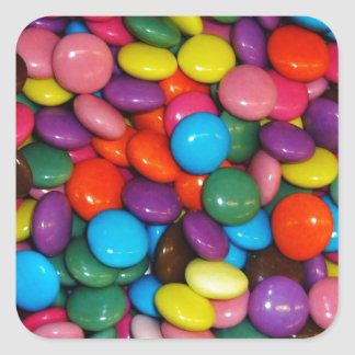 Colorful candies sticker