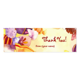 Colorful Candies:Thank You Gift Tag Double-Sided Mini Business Cards (Pack Of 20)