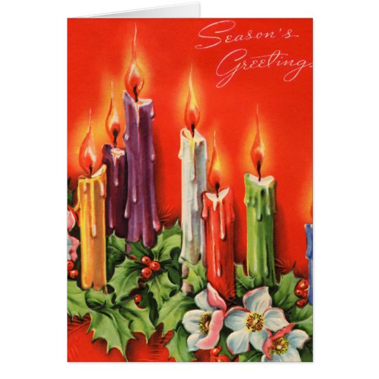Colorful CAndles Seasons Greetings Card
