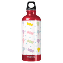 Colorful Candy and Stars Aluminum Water Bottle