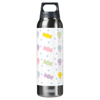 Colorful Candy and Stars Insulated Water Bottle