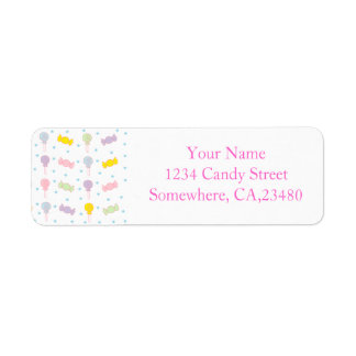 Colorful Candy and Stars Custom Return Address Labels