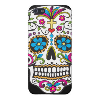 Colorful Candy and Sugar Skull Cover For iPhone 5/5S