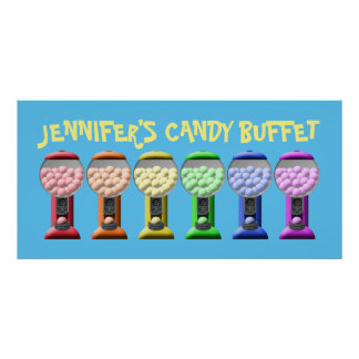 Colorful Candy Buffet Sign Poster