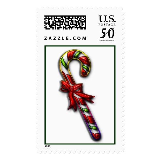Colorful Candy Cane Postage