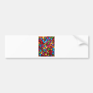 Colorful Candy Coated Chocolates Yum! Bumper Sticker