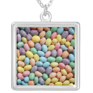 Colorful candy coated mini eggs necklace