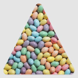 Colorful candy coated mini eggs stickers