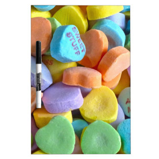 Colorful Candy Hearts Dry-Erase Board