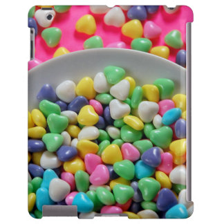 Colorful candy hearts ipad barely there case