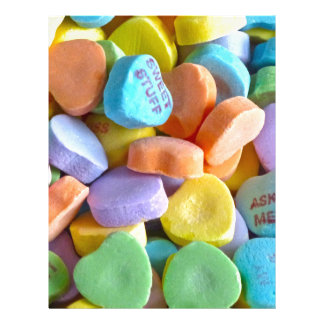 Colorful Candy Hearts Letterhead