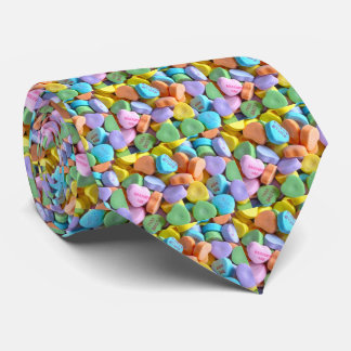 Colorful Candy Hearts Tie