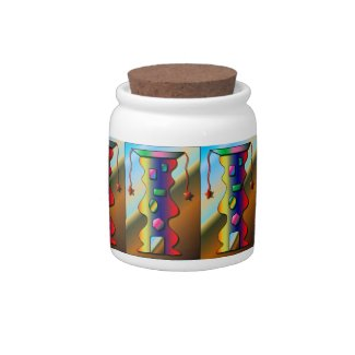 Colorful Candy Jar with Candy Design