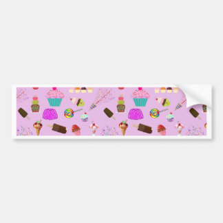 Colorful Candy Party Pattern Bumper Sticker