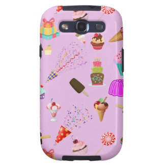 Colorful Candy Party Pattern Samsung Galaxy SIII Case
