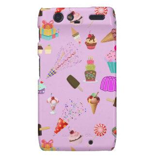 Colorful Candy Party Pattern Motorola Droid RAZR Case
