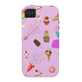 Colorful Candy Party Pattern iPhone 4 Covers