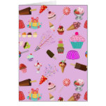 Colorful Candy Party Pattern Greeting Card