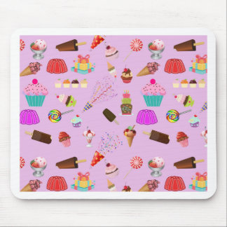 Colorful Candy Party Pattern Mouse Pad