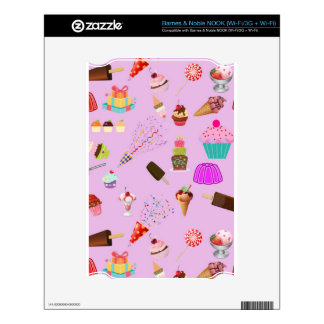 Colorful Candy Party Pattern Skin For The NOOK