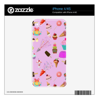 Colorful Candy Party Pattern iPhone 4S Decal