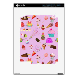 Colorful Candy Party Pattern Decals For iPad 3