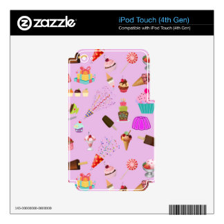 Colorful Candy Party Pattern iPod Touch 4G Decal