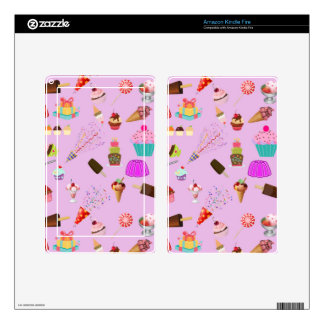 Colorful Candy Party Pattern Decals For Kindle Fire