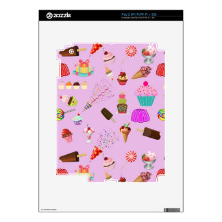 Colorful Candy Party Pattern iPad 2 Decals
